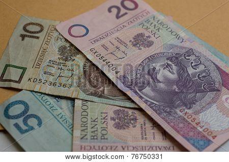 Zloty - polish banknotes.