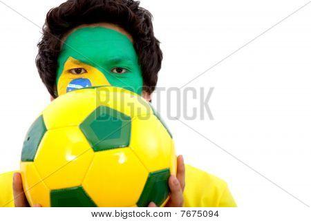 Retrato de bandeira brasileira
