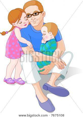 Vater und seinen Kindern