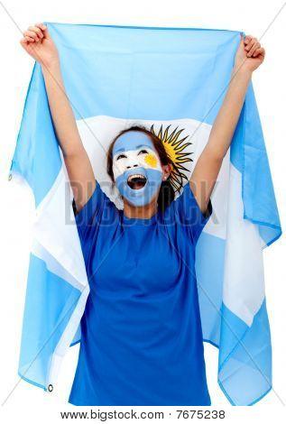 Argentinian Flag Portrait