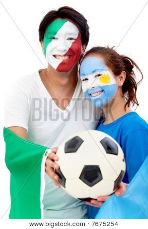 Football Fans Portrait