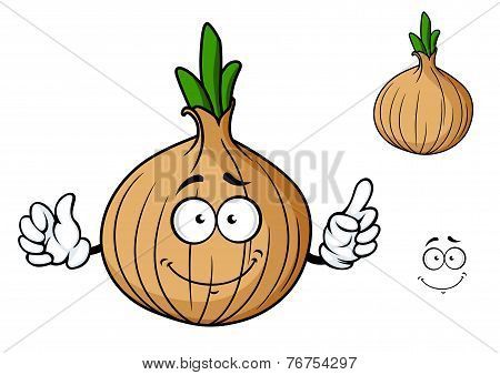 Cartoon onion vegetable character