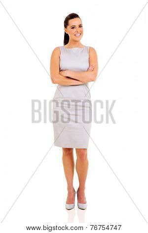confident career woman portrait with arms crossed