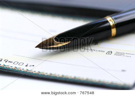 Scheckheft pen