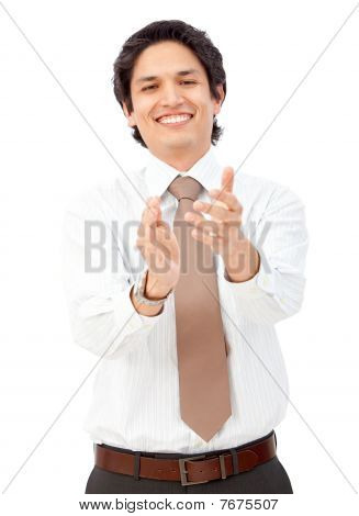 Business Man Clapping