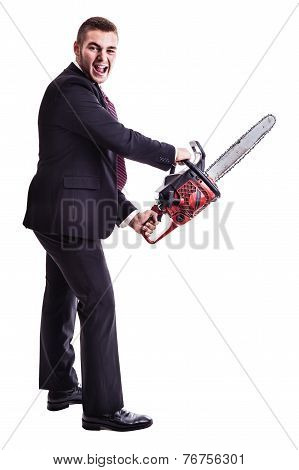 Psycho Chainsaw Businessman