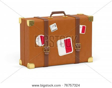 Suitcase With Flag Of Malta