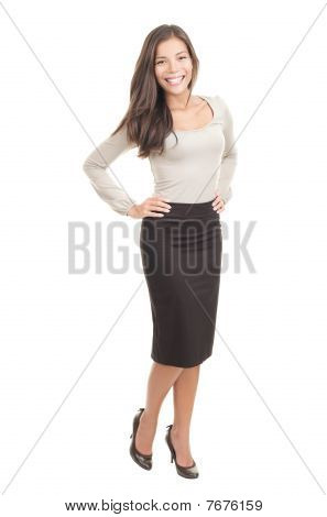 Attractive Woman Isolated