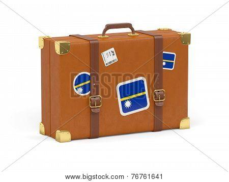 Suitcase With Flag Of Nauru