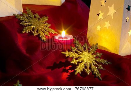 Decorations For Christmas : Stars , Lights , Candles And Balls