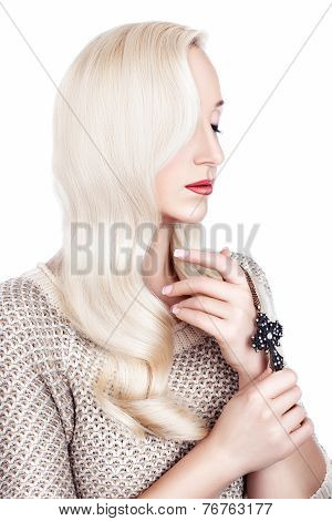 Girl With White Hair.
