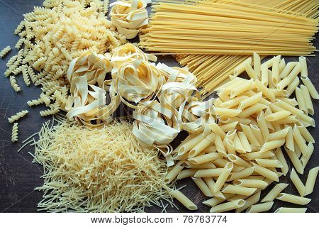 Dry pasta for background
