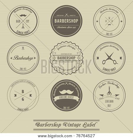 Barbershop vintage label design
