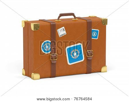 Suitcase With Flag Of Northern Mariana Islands