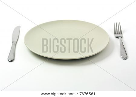 Dinner Plate And Silverware