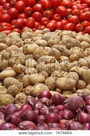 Potato, Tomato & Onion