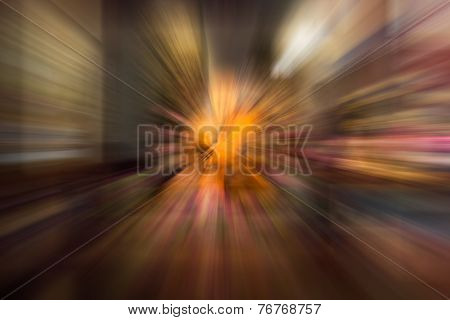 Brown Color Radial Motion Blur Abstract Of Buddhist Monk Wax Model
