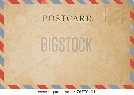Airmail backside blank postcard