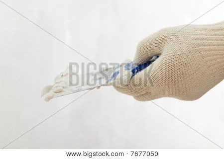 Hand With Putty Knife