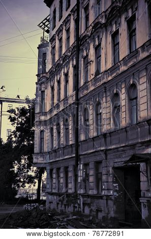 Old Dilapidated Building As A Nightmare.