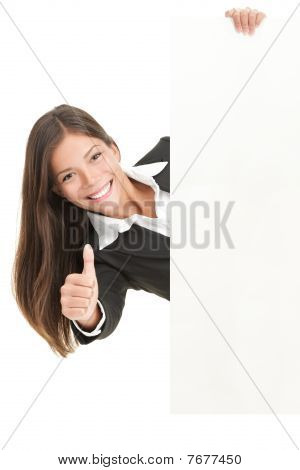 Advertisement Woman Holding Sign