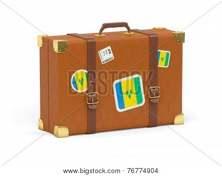 Suitcase With Flag Of Saint Vincent And The Grenadines