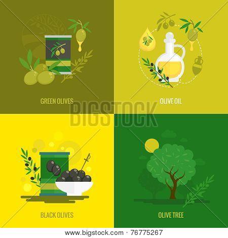 Olives mini poster set