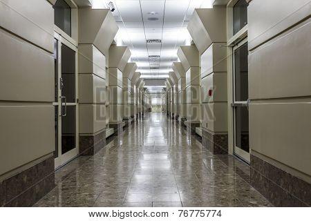 Corridor In A Modern Hospital.