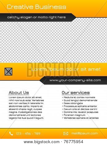 Business multipurpose flyer template - yellow and grey