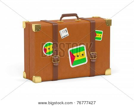 Suitcase With Flag Of Sao Tome And Principe