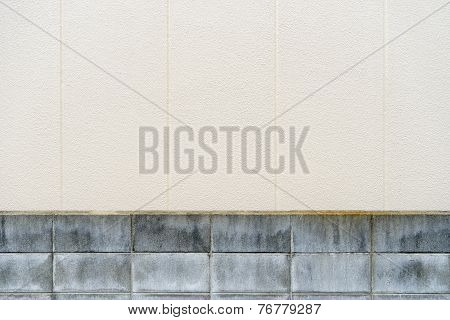 Brick Wall With Concrete Texture Background