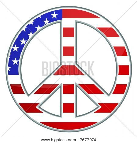Peace sign / USA / Vector