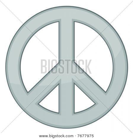 Peace Sign / Silver / Vector