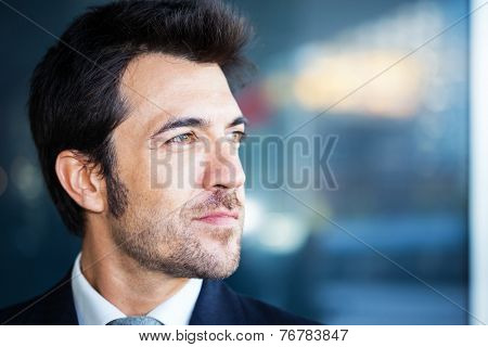 Portrait of an handsome businessman