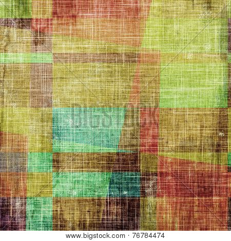 Grunge background with vintage and retro design elements. With different color patterns: blue; green; brown; yellow