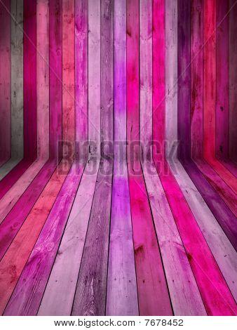 Pink Wooden Room
