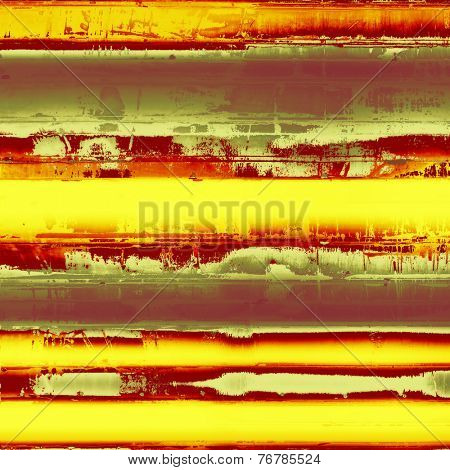 Aging grunge texture, old illustration. With different color patterns: gray; green; orange; red; brown; yellow