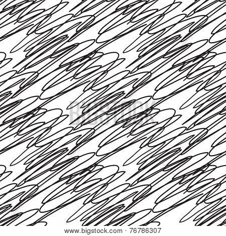 Abstract vector seamless black and white zigzag pattern with abstract line element.