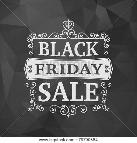 Black Friday Sale Business Vintage Background