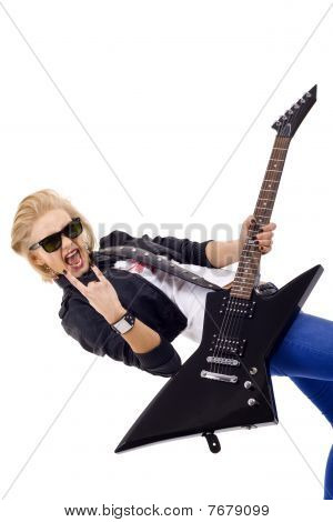 Energic Guitar Player