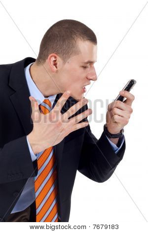 Man Screaming In His Phone