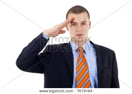 Man Gives Salute