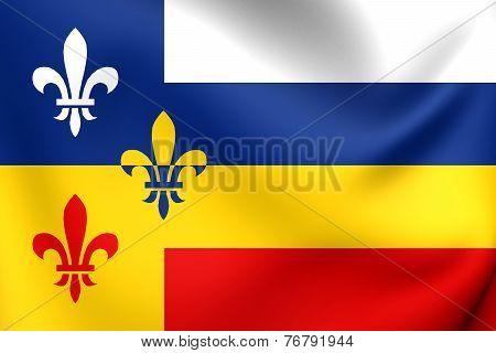 Flag Of Bergeijk, Netherlands.