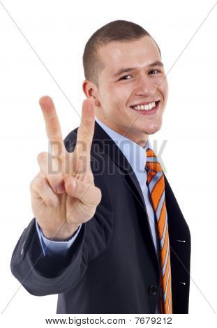 Showing Victory Sign