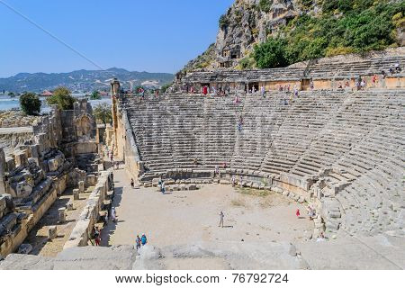 The ancient Roman amphitheatre in Turkey