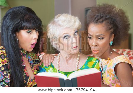 Curious Woman Reading Together