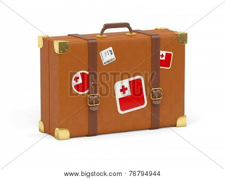 Suitcase With Flag Of Tonga