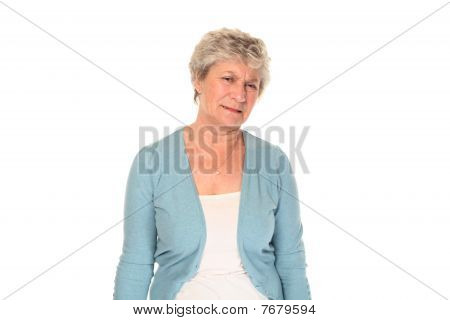Senior Older Woman Grimacing