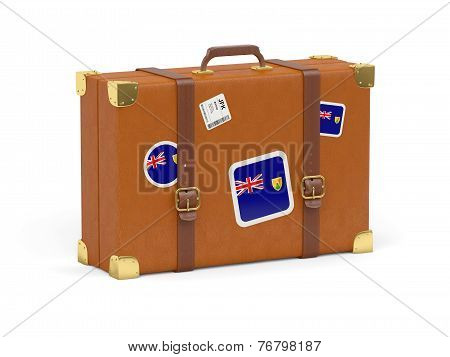 Suitcase With Flag Of Turks And Caicos Islands