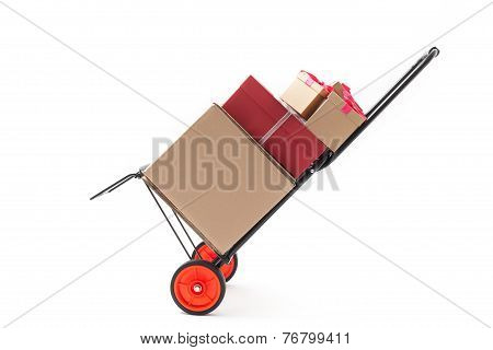 Hand Truck With Gift Boxes